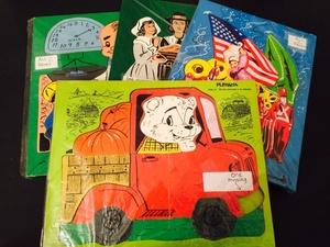 4 vintage puzzles