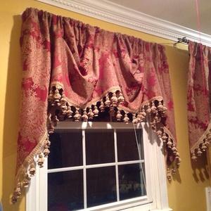 """One Croscill Window Curtain Valance-109"""" W x 38"""" L"""