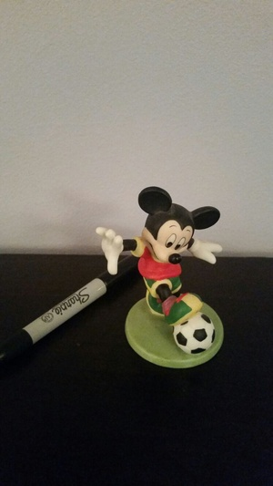Mickey Mouse soccer figurine