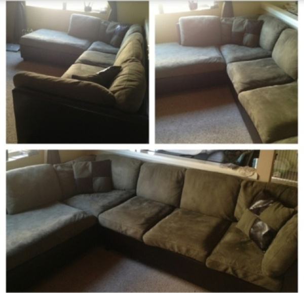Offerup leather suede couch furniture in bothell wa