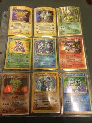 Pokemon cards vintage and japanese