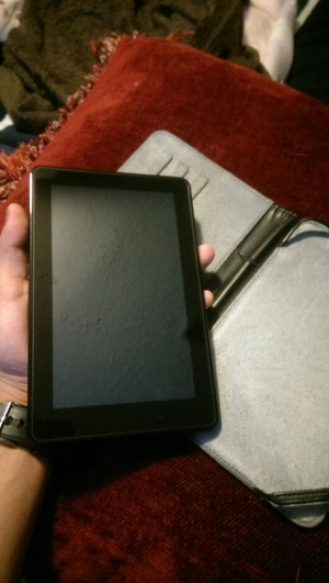 Kindle fire w/protector