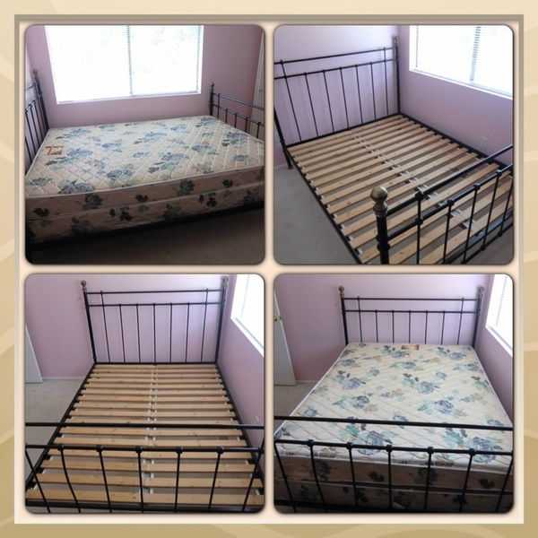 offerup ikea queen size bed frame with box spring mattress