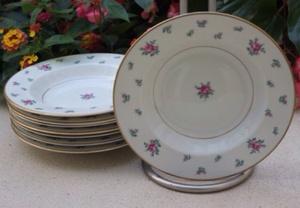 Royal Jackson rose soup bowls
