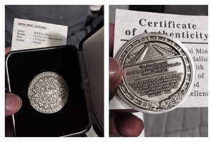 Antiquated Silver Mayan Coin .999 silver