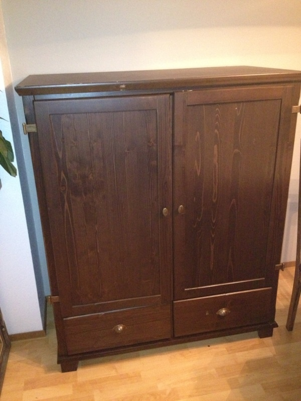 Offerup dark brown wood armoire furniture in edmonds wa for Furniture edmonds wa