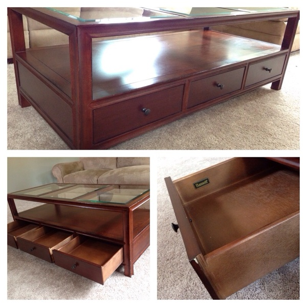 offerup bassett glass top coffee table furniture in