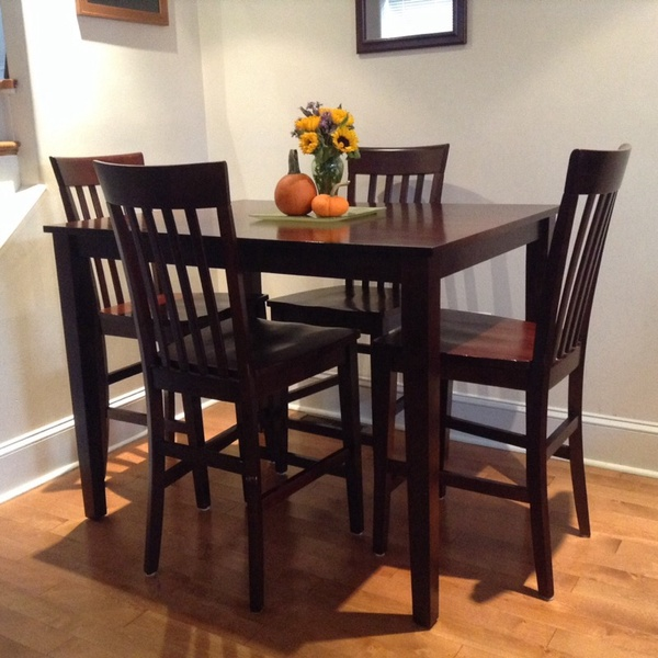 offerup counter height table and chairs solid wood furniture in