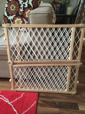 Small Wooden Dog Gate