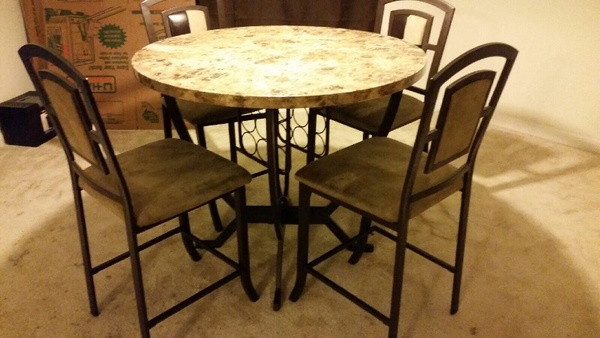 Offerup breakfast table 4 chairs household in houston tx